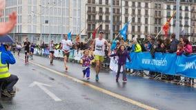 Maart, 3de 2015 harmoniemarathon in Genève zwitserland Royalty-vrije Stock Afbeelding