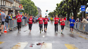 Maart, 3de 2015 harmoniemarathon in Genève zwitserland Stock Afbeeldingen