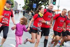 Maart, 3de 2015 harmoniemarathon in Genève zwitserland Stock Foto's