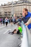 Maart, 3de 2015 harmoniemarathon in Genève zwitserland Stock Fotografie