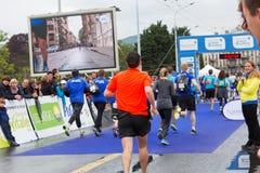 Maart, 3de 2015 harmoniemarathon in Genève zwitserland Royalty-vrije Stock Foto