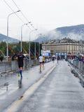 3 maart, de harmoniemarathon van 2015 in Genève harmoniemarathon in Genève zwitserland Royalty-vrije Stock Foto's