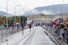 3 maart, de harmoniemarathon van 2015 in Genève zwitserland Stock Afbeeldingen