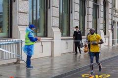3 maart, de harmoniemarathon van 2015 in Genève zwitserland Royalty-vrije Stock Foto's