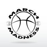 Maart-de sportontwerp van het Waanzinbasketbal stock illustratie