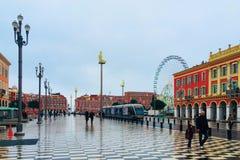 10 maart, 2018 Frankrijk, Nice, Plaats Massena Royalty-vrije Stock Foto's