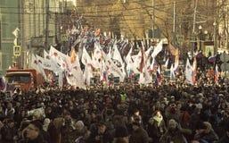 Maart in geheugen van Boris Nemtsov 27 februari 2016 Stock Foto