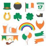 17 maart, geplaatste de Dagelementen van Heilige Patricks stock illustratie
