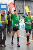 3 maart, 2015 harmoniemarathon in Genève zwitserland Royalty-vrije Stock Foto's