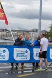 3 maart, 2015 harmoniemarathon in Genève zwitserland Royalty-vrije Stock Fotografie