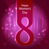 8 Maart, Internationale Vrouwen` s Dag, vector illustratie