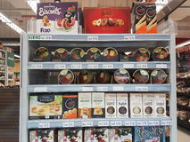 2 maart 2017, Kuala Lumpur Familiekruidenier in Selayang Stock Foto's