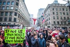 Maart 2017 NYC van vrouwen Royalty-vrije Stock Foto