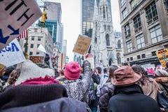 Maart 2017 NYC van vrouwen Stock Foto