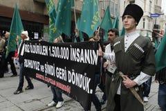 Maart om volkerenmoord te protesteren Circassian Royalty-vrije Stock Afbeelding