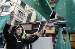 Maart om volkerenmoord te protesteren Circassian Stock Fotografie