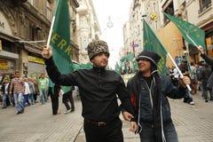 Maart om volkerenmoord te protesteren Circassian Stock Afbeelding