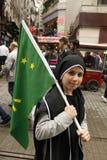 Maart om volkerenmoord te protesteren Circassian Royalty-vrije Stock Fotografie