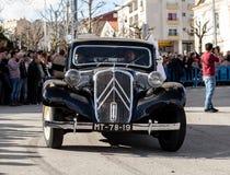 17 Maart 2019 - Portugese Geschiedenisparade tijdens Sao Jose Celebration van de Vadersdag in Povoa DE Lanhoso, Portugal royalty-vrije stock foto