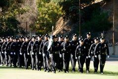 Maart samen - LAPD Stock Afbeelding