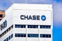 19 maart, 2019 San Diego/CA/de V.S. - achtervolg bankbureaus in San Diego van de binnenstad stock foto's