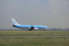 Maart, 24ste 2015, Amsterdam Schiphol airportPH-BXP KLM Koninklijke Dut Royalty-vrije Stock Fotografie