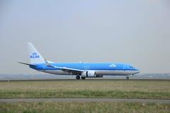 Maart, 24ste 2015, de Luchthaven ph-BCA KLM Koninklijke D van Amsterdam Schiphol Royalty-vrije Stock Foto's
