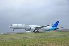 Maart, 27ste 2015, de Luchthaven pk-GID Garuda Indon van Amsterdam Schiphol royalty-vrije stock afbeeldingen