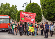 Maart tegen Monsanto jpg Royalty-vrije Stock Foto