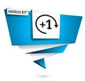 27 maart, tijdzomertijd Stock Foto's