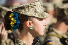 Maart van Onafhankelijkheid in Kiev Stock Foto's