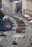 Maart van Onafhankelijkheid in Kiev Stock Afbeeldingen