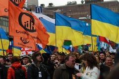 Maart van Russische oppositie tegen oorlog met de Oekraïne Royalty-vrije Stock Foto's