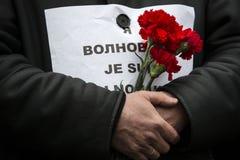 Maart van solidariteit tegen terrorisme in Kiev Stock Afbeeldingen