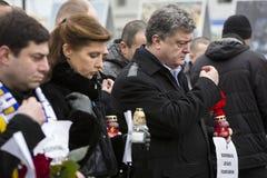 Maart van solidariteit tegen terrorisme in Kiev Royalty-vrije Stock Foto's