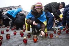 Maart van solidariteit tegen terrorisme in Kiev Royalty-vrije Stock Afbeelding