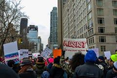 Maart 2019 van vrouwen - de Stad van New York stock foto's