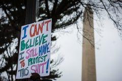Maart van vrouwen - Washington DC stock afbeelding