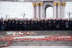Maart van waardigheid in Kiev stock foto