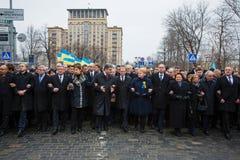 Maart van Waardigheid in Kyiv Stock Foto