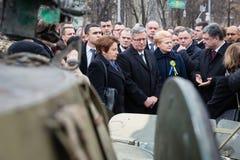 Maart van Waardigheid in Kyiv Royalty-vrije Stock Fotografie