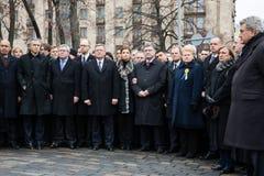 Maart van Waardigheid in Kyiv Stock Afbeeldingen