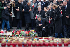 Maart van Waardigheid in Kyiv Royalty-vrije Stock Foto's