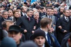 Maart van Waardigheid in Kyiv Stock Foto's