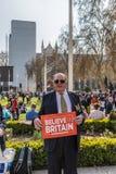 Maart voor brexitverdedigers op 29 Maart 2019 stock foto