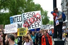 Maart voor Europa 2de Juli 2016 - Londen Stock Fotografie