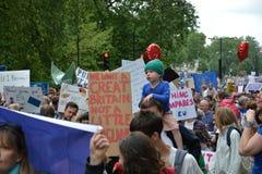 Maart voor Europa 2de Juli 2016 - Londen Stock Foto