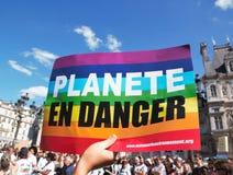 Maart voor het klimaat - Ecologische demonstratie De Zaterdag van Parijs Frankrijk, 08 September, 2018 royalty-vrije stock afbeelding