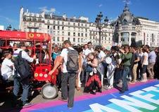 Maart voor het klimaat - Ecologische demonstratie De Zaterdag van Parijs Frankrijk, 08 September, 2018 stock foto's