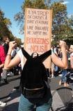 Maart voor het klimaat - Ecologische demonstratie De Zaterdag van Parijs Frankrijk, 08 September, 2018 royalty-vrije stock foto